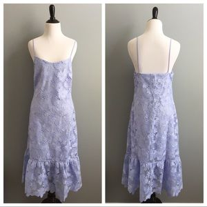 Banana Republic lavender embroidered lace dress